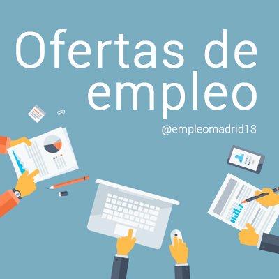 ofertas de empleo empleomadrid13 twitter