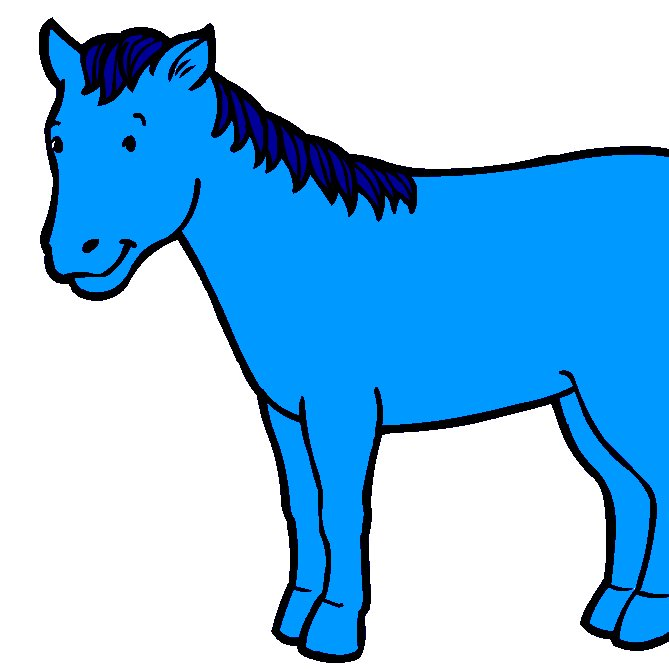 blue hors