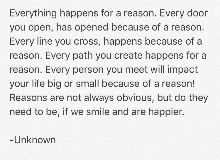 Quotes Of Reasons On Twitter Do You Believe Everything Happens For