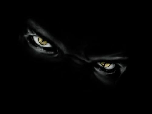 Black Cat With Pink Scary Eyes: Creepy Stalker Guy (@ICanStalkU)