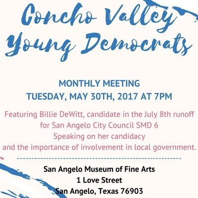 Concho Valley Young Democrats ConchoValleyYDs