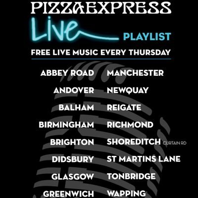 Theliveplaylist On Twitter At Pizzaexpress Kew Live Playlist