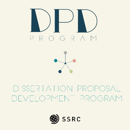 ssrc dissertation proposal development fellowship