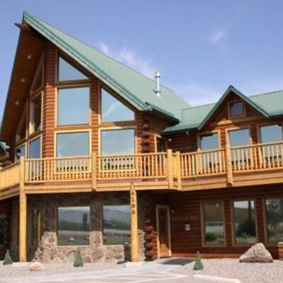 Modern log homes mlh4288 twitter for Contemporary log homes