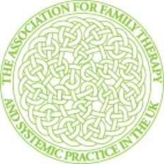 A circle with the text 'The Association for Family Therapy and Systemic Practice in the UK' written around it