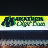 Marathon Sign Boss