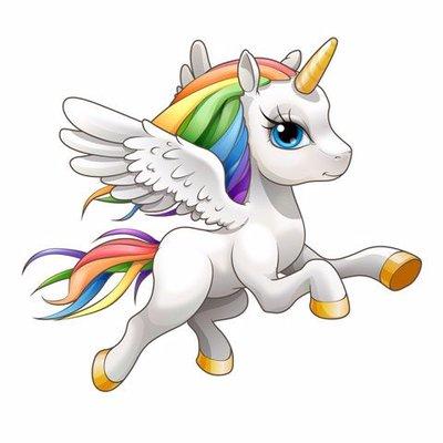 Running Baby Unicorn Babyunicornrunr