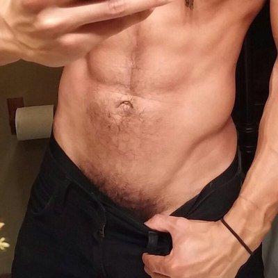 Sexy gay jock jerking his solid boner