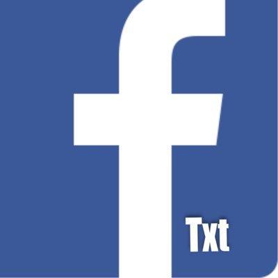 Facebook Txt