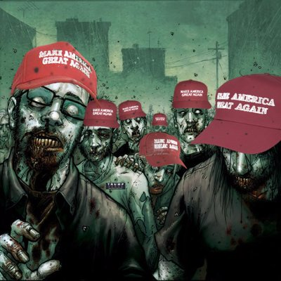 Image result for Trump  zombies images