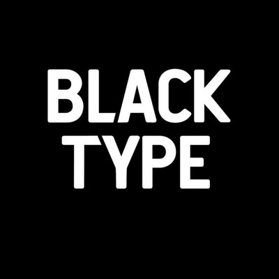 879b85d9b Black Type on Twitter