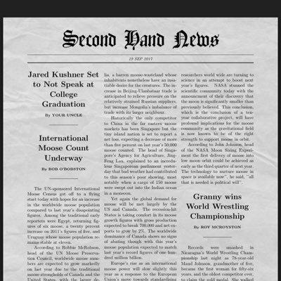 Second Hand News Profile