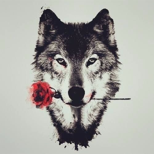 Wolf lonely Redbubble logo