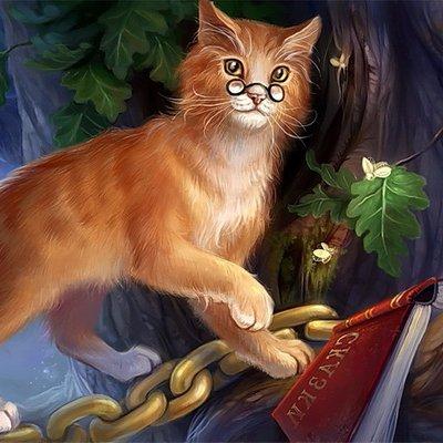 картинка учёный кот