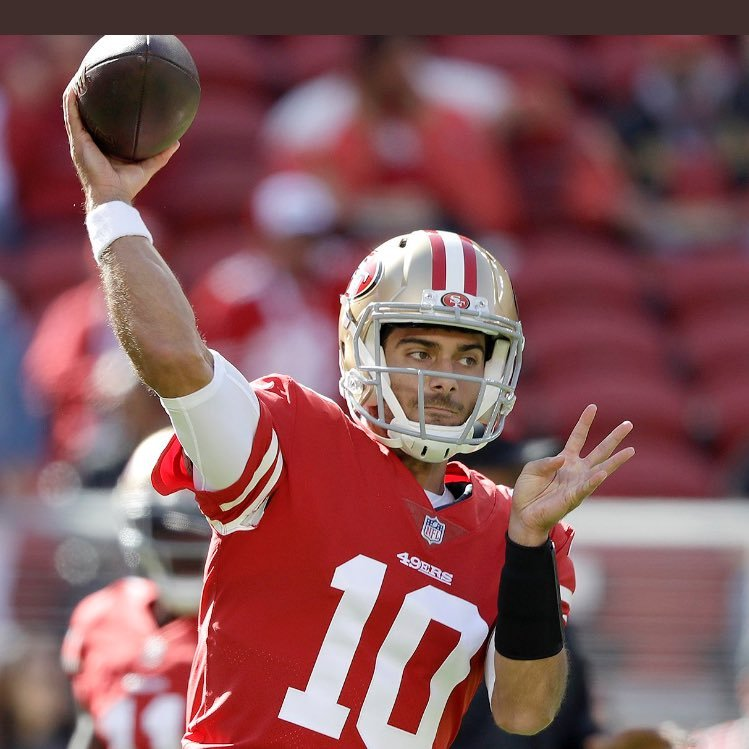 competitive price c5dcc d6574 Jimmy Garoppolo on Twitter: