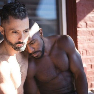 gay chests Interracial men