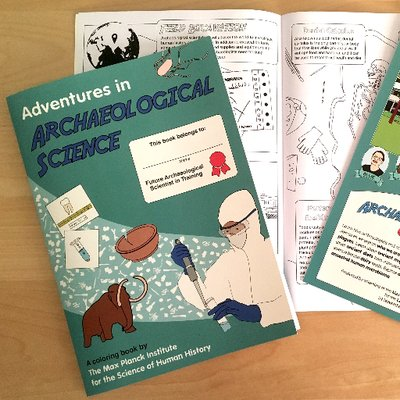 Adventures In Archaeological Science Coloring Book