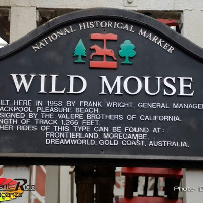 That Blackpool pleasure beach wild mouse