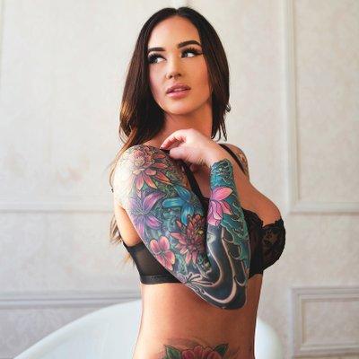 Tattooed models Nude Photos 56
