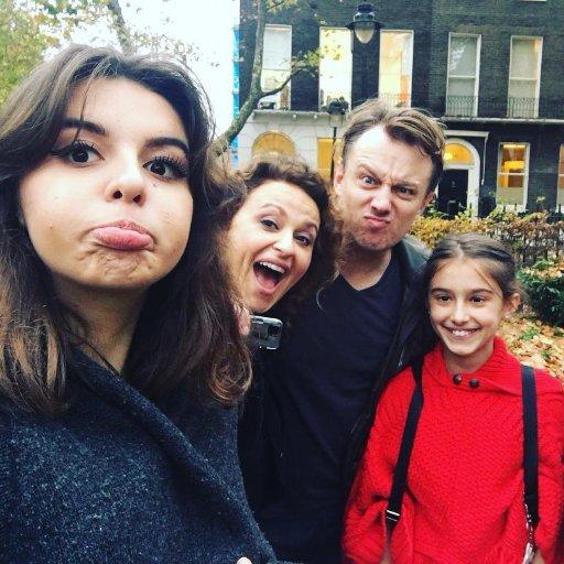 Nadia Sawalha and Family