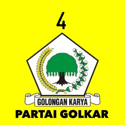 Hasil gambar untuk PARTAI GOLKAR no 4