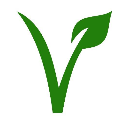 Símbolo V de producto alimenticio vegano