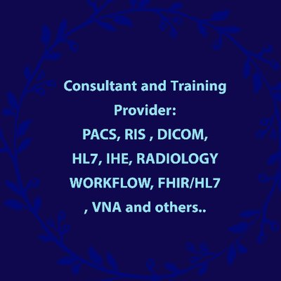 ACS Training - PACS/RIS,DICOM,HL7, IHE, VNA ... on Twitter ...