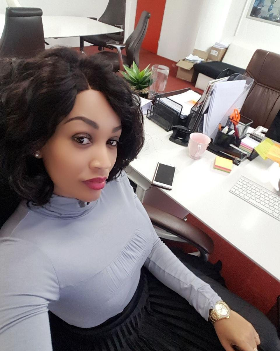 Zari hassan in her mega office