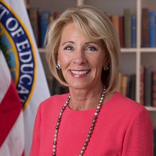 Secretary Betsy DeVos (@BetsyDeVosED )
