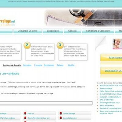 Devis carrelage prix carrelage twitter for Carrelage