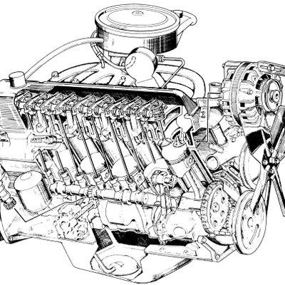 Slant Six Engine