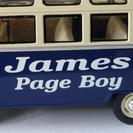 Wedding Day Gift Personalised Page Boy Usher Best Man Name Defender Toy Car Box