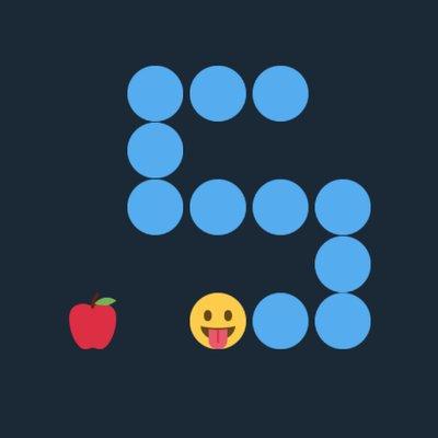 Emoji Snake Game On Twitter Score 380