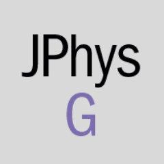 Journal of Physics G (@jphysg) | Twitter