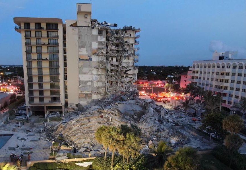 Surfside, Florida, Mayor Charles Burkett confirmed that one person has died after a 12-story residential building partially collapsed in the South Flo