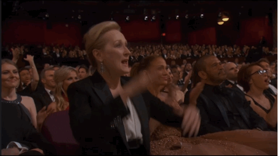 "when #MerylStreep is giving you the ""hell yes!"" I think that's even better than an oscar no? http://t.co/FMciLSjV79 https://t.co/gxK8UAu2l1"