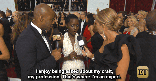 .@Lupita_Nyongo has more to say than just who she's wearing. #AskHerMore #ETOscars #Oscars http://t.co/wGr6aYw4HY