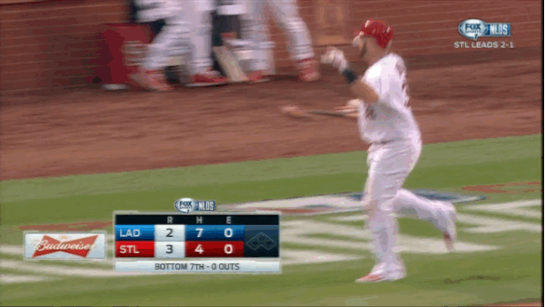 "If Gomez does this, STL burns. MT @jamfan40 Is this ""respecting the game""? RT @PeteBlackburn Giddy up, Matt Adams! http://t.co/OQxwuath79"