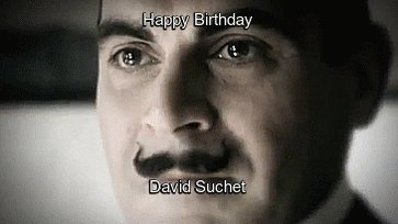 Mon Dieu! Happy birthday to a brilliant actor & one of the most dapper detectives.
