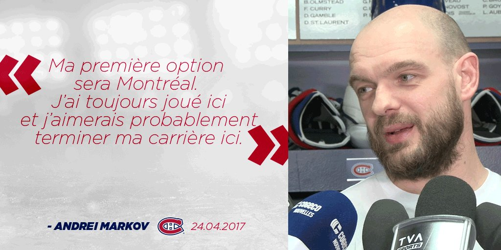 Andrei Markov sur son désir de rester à Montréal.  Andrei Markov on wa...