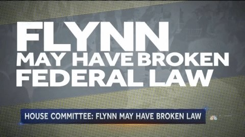 Doesn't appear Flynn 'complied with the law,' House Oversight chair says.  @kwelkernbc reports on @NBCNightlyNews.