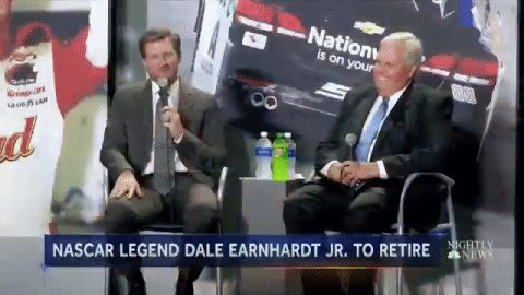 Dale Earnhardt Jr. says he will to retire from NASCAR -- and explains why.  @kevtibs reports now on @NBCNightlyNews.