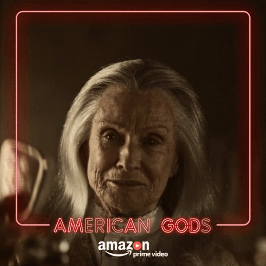 RT @GodsOnAmazon: That face never ages, well not to some at least. #AmericanGods https://t.co/TulBNktBXj