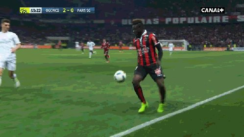 2-0 up and showboating v PSG. Balotelli style.