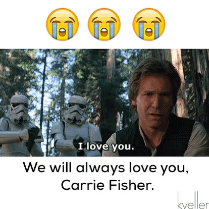 Weeping. #CarrieFisher https://t.co/vcQuMkDbRU