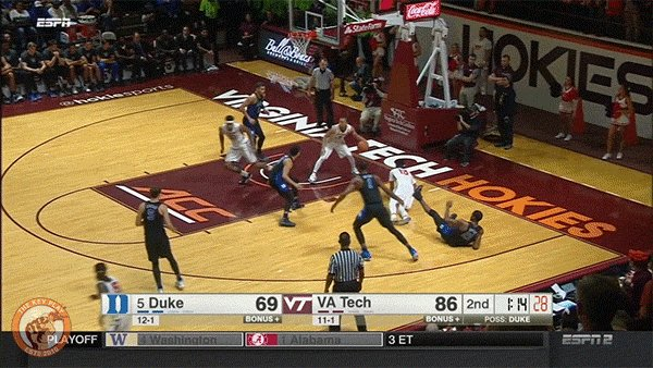 . @BUZZKETBALL_ ALLEY OOP OFF THE GLASS DOT GIF #HOKIES https://t.co/BRpVLpCi4l