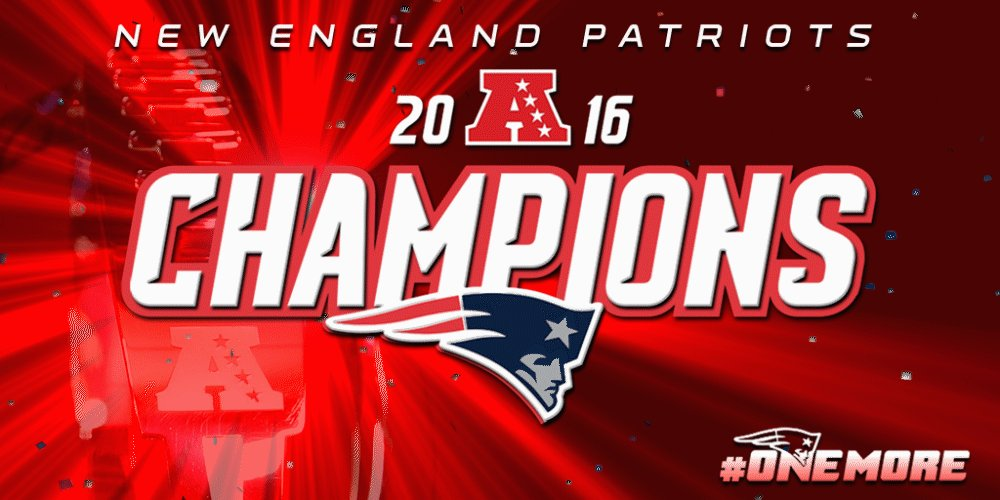 #Patriots are AFC Champions! #OneMore