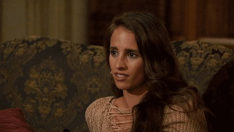 Perhaps the greatest reaction GIF in Bachelor history.   You're welcom...