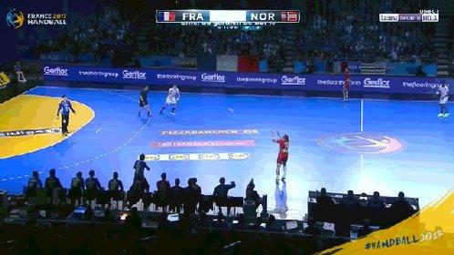 defendre chaussure a la main ca ca c'est fait #Handball2017 #Phenomena...