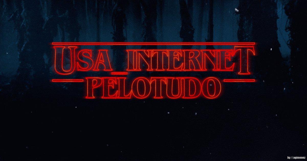 #UsaInternetPelotudo, el gif para la tablet del caballero y el smartph...